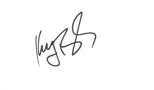 Keegan Bradley autographed blank back of business card