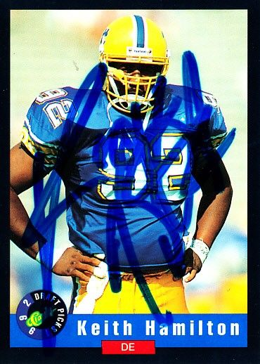 Keith Hamilton autographed Pitt Panthers 1992 Classic card