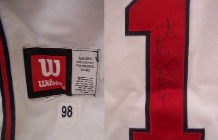 Keith Lockhart autographed 1998 Atlanta Braves game worn jersey
