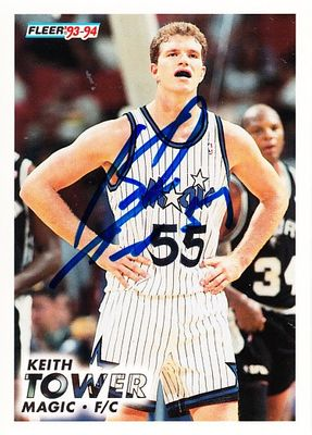 Keith Tower autographed Orlando Magic 1993-94 Fleer Rookie Card