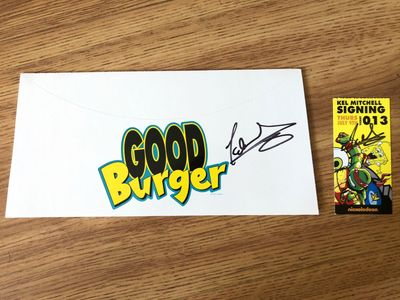 Kel Mitchell autographed Good Burger 2015 Comic-Con promo hat and autographed signing ticket