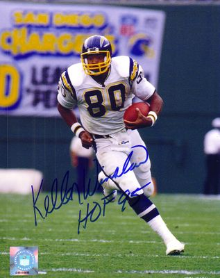 Kellen Winslow autographed San Diego Chargers 11x14 photo inscribed HOF 95