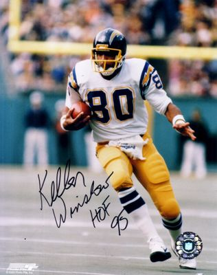 Kellen Winslow autographed San Diego Chargers 8x10 photo inscribed HOF 95
