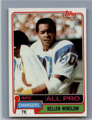Kellen Winslow San Diego Chargers 1981 Topps Rookie Card