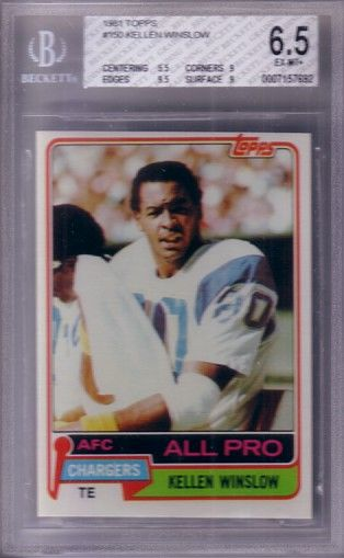 Kellen Winslow San Diego Chargers 1981 Topps Rookie Card RC graded BGS 6.5 ExMt+