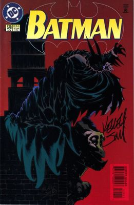 Kelley Jones autographed Batman 1996 DC comic book issue #520