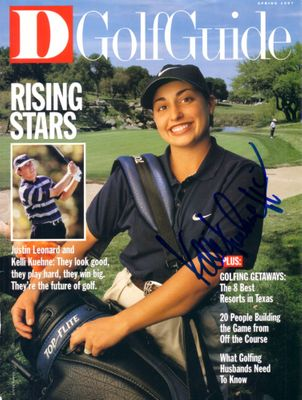 Kelli Kuehne (LPGA) autographed 1997 Dallas Golf Guide magazine cover
