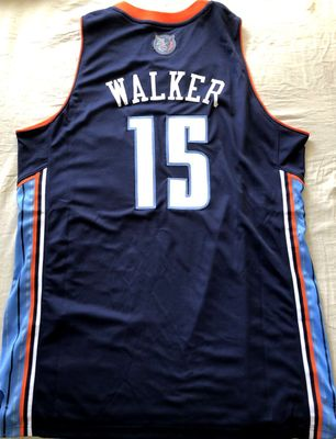 Kemba Walker Charlotte Bobcats authentic Adidas 2012 2013 2014 stitched navy blue jersey NEW