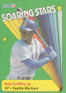 Ken Griffey Jr. Seattle Mariners 1990 Fleer Soaring Stars insert card