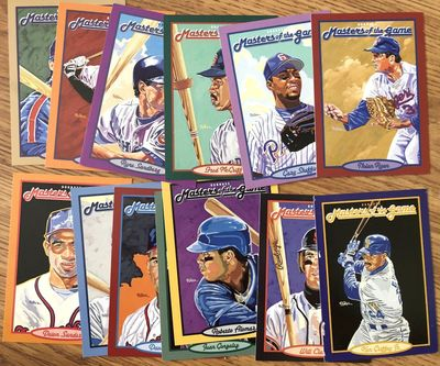 1993 Donruss Masters of the Game jumbo near complete card set (Ken Griffey Jr. Cal Ripken Nolan Ryan)