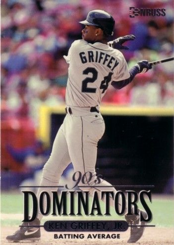 Ken Griffey Jr. Seattle Mariners 1994 Donruss Dominators jumbo insert card (#/10000)