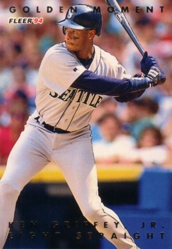 Ken Griffey Jr. Seattle Mariners 1994 Fleer Golden Moments jumbo card (#/10000)