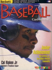Ken Griffey Jr. 1998 Beckett Baseball mini magazine