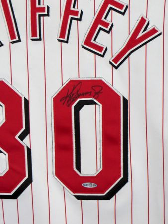 Ken Griffey Jr. autographed Cincinnati Reds authentic home jersey (UDA)