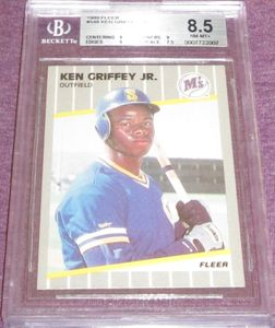Ken Griffey Jr. Seattle Mariners 1989 Fleer Rookie Card #548 BGS graded 8.5