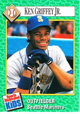 Ken Griffey Jr. Seattle Mariners 1990 Sports Illustrated for Kids card