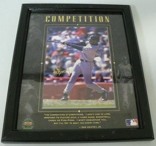 Ken Griffey Jr. Upper Deck UDA Motivational Seattle Mariners 8x10 photo framed