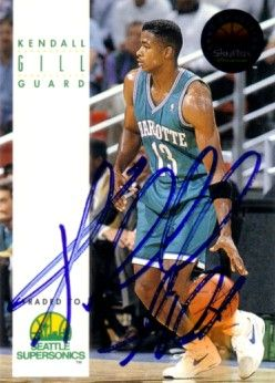 Kendall Gill autographed Charlotte Hornets 1993-94 SkyBox card
