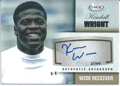 Kendall Wright certified autograph 2012 SAGE card #/100