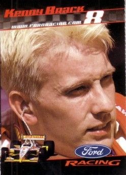 Kenny Brack 2001 Ford Racing Sports Illustrated for Kids card