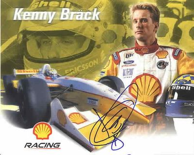 Kenny Brack autographed 8x10 Shell Racing photo card
