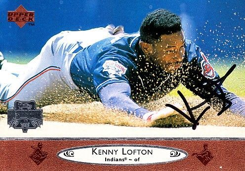 Kenny Lofton autographed Cleveland Indians 1996 Upper Deck All-Star Game jumbo card
