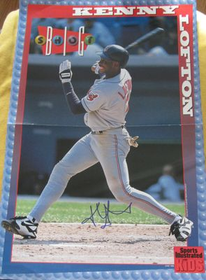 Kenny Lofton autographed Cleveland Indians Sports Illustrated for Kids mini poster