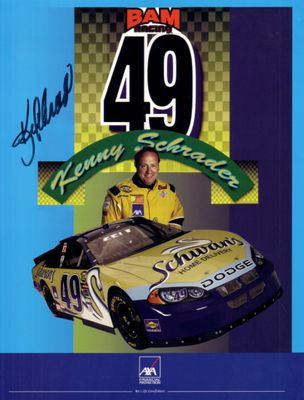 Kenny Schrader autographed 8 1/2 by 11 NASCAR promo photo