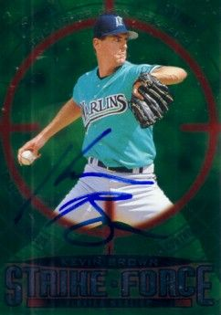Kevin Brown autographed Florida Marlins 1997 Upper Deck Strike Force card