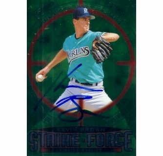 Kevin Brown Autographed Florida Marlins 1997 Upper Deck Strike Force