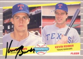Kevin Brown autographed Texas Rangers 1989 Fleer card