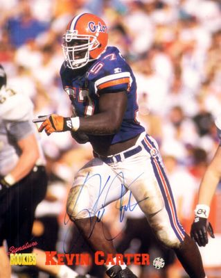 Kevin Carter autographed Florida Gators 8x10 photo