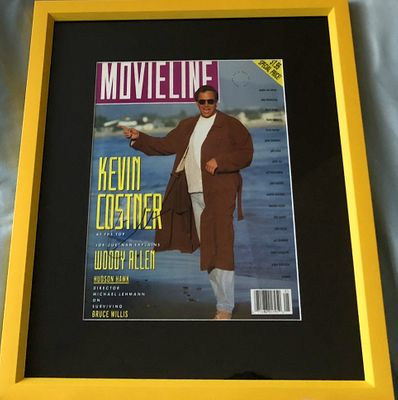 Kevin Costner autographed 1991 Movieline magazine cover matted and framed