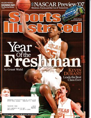 Kevin Durant Texas Longhorns 2007 Sports Illustrated magazine (first cover)