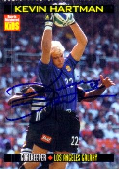 Kevin Hartman autographed MLS Los Angeles Galaxy Sports Illustrated for Kids card