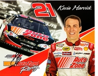 Kevin Harvick autographed AutoZone Racing 8x10 NASCAR photo card