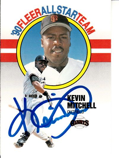 Kevin Mitchell autographed San Francisco Giants 1990 Fleer All-Star Team card (MLB authenticated)