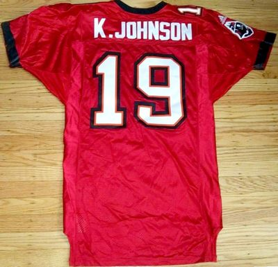 Keyshawn Johnson Tampa Bay Buccaneers 2001 Adidas team issued game model triple stitched jersey NEW