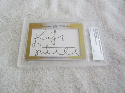 Kiefer Sutherland 2017 Leaf Masterpiece Cut Signature certified autograph card 1/1 24 JSA