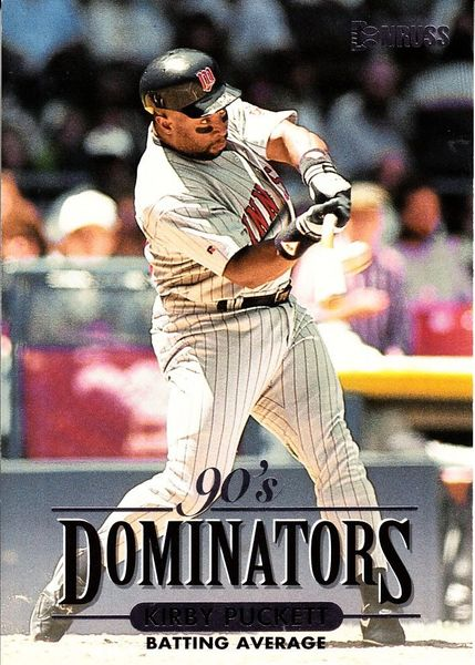 Kirby Puckett Minnesota Twins 1994 Donruss Dominators jumbo insert card #/10000