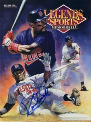Kirby Puckett autographed Minnesota Twins 1993 Legends magazine cover matted & framed