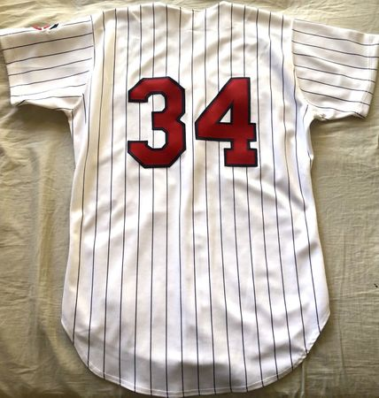 Kirby Puckett Minnesota Twins 1990s authentic Russell Athletic stitched game model home white jersey