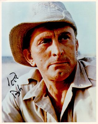 Kirk Douglas autographed Cast a Giant Shadow 8x10 movie photo