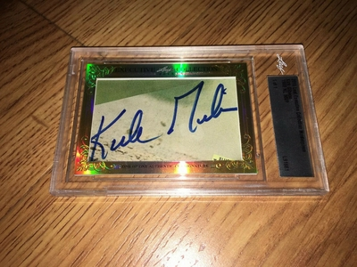 Kirk Gibson 2015 Leaf Masterpiece Cut Signature certified autograph card 1/1 JSA