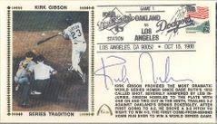 Kirk Gibson autographed Los Angeles Dodgers 1988 World Series Game 1 HR Gateway cachet framed with 8x10 photo