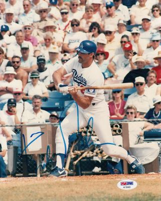 Kirk Gibson autographed Los Angeles Dodgers 8x10 photo (PSA/DNA)