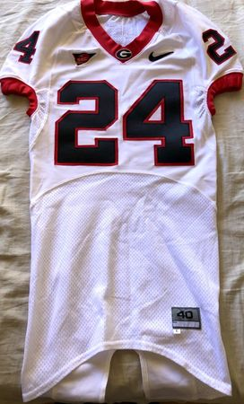 Knowshon Moreno Georgia Bulldogs 2008 TEAM ISSUED authentic Nike stitched white game model jersey