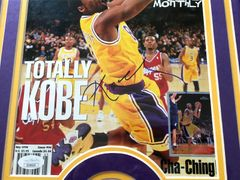 Kobe Bryant autographed Los Angeles Lakers Beckett Basketball cover matted and framed (JSA)