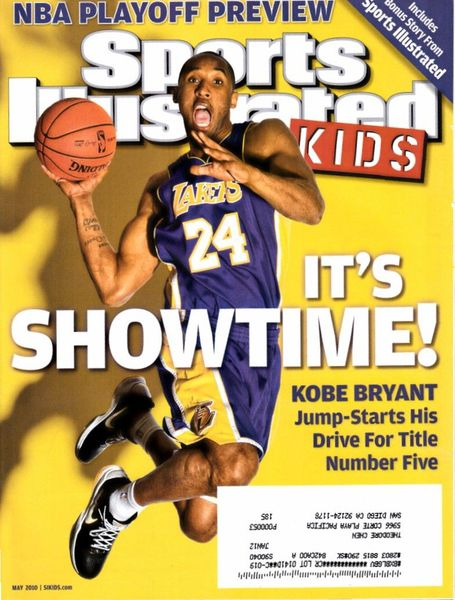 Kobe Bryant Los Angeles Lakers 2010 Sports Illustrated for Kids magazine
