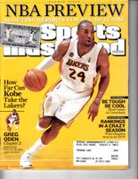 Kobe Bryant Los Angeles Lakers 2008 and 2015 NBA Preview Sports Illustrated issues (RARE REGIONAL COVERS)